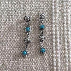 BRIGHTON | Dangle Turquoise Geometric Earrings